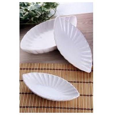 Keramika 2 Lı 20 Cm Beyaz Cok Amaclı Kayık Mıdye Tabak
