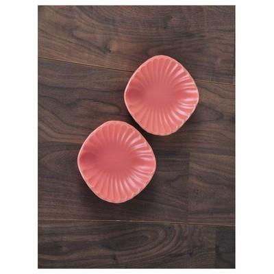Keramika 2 Lı 20 Cm Mat Pembe Cok Amaclı Kayık Mıdye Tabak