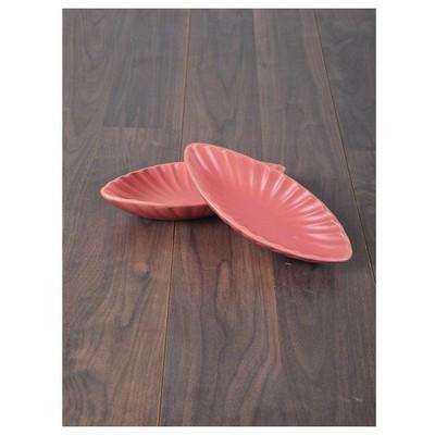 Keramika 2 Lı 25 Cm Mat Pembe Cok Amaclı Kayık Mıdye Tabak