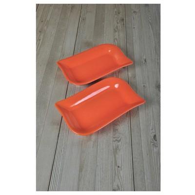 Keramika 2 Lı 19 Cm Turuncu Cok Amaclı Kayık Ada Tabak