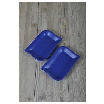 Keramika 2 Lı 19 Cm Mat Efe Mavı Cok Amaclı Kayık Ada Tabak