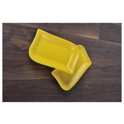 Keramika 2 Lı 19 Cm Mat Sarı Cok Amaclı Kayık Ada Tabak