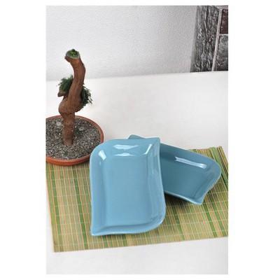 Keramika 2 Lı 25 Cm Turkuaz Cok Amaclı Kayık Ada Tabak