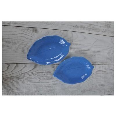 Keramika 2 Lı 22 Cm Mavı Cok Amaclı Kayık Akasya Tabak