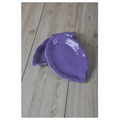 Keramika 2 Lı 22 Cm Mor Cok Amaclı Kayık Akasya Tabak