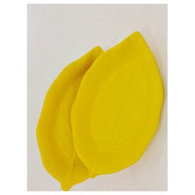 Keramika 2 Lı 22 Cm Mat Sarı Cok Amaclı Kayık Akasya Tabak