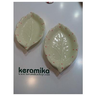 Keramika 2 Lı 26 Cm Krem Uzerı Pembe Cok Amaclı Kayık Akasya Tabak