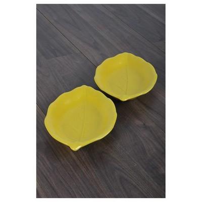 Keramika 2 Lı 26 Cm Mat Sarı Cok Amaclı Kayık Akasya Tabak