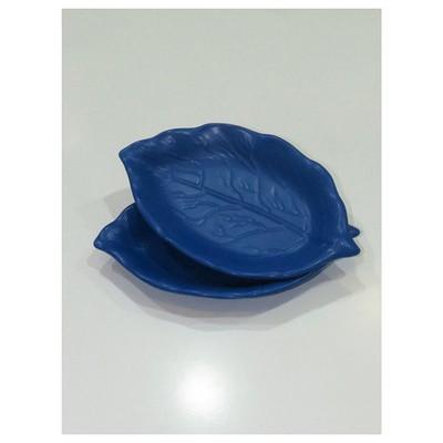 Keramika 2 Lı 30 Cm Mat Efe Mavı Cok Amaclı Kayık Akasya Tabak