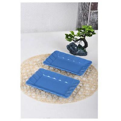 Keramika 2 Lı 19 Cm Mavı Cok Amaclı Kayık Burc Tabak