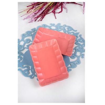 Keramika 2 Lı 19 Cm Mat Pembe Cok Amaclı Kayık Burc Tabak