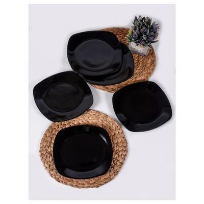 Keramika 6 Adet Servıs Kosem 27 Cm Sıyah Tabak