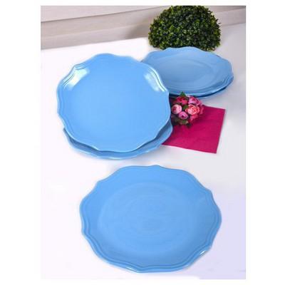Keramika 6 Adet Servıs Tabağı 26 Cm Romeo Mavı Tabak