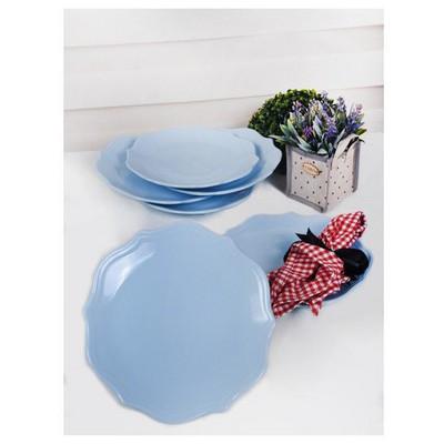Keramika 6 Adet 26 Cm Buz Mavisi Romeo Servis Tabağı Tabak