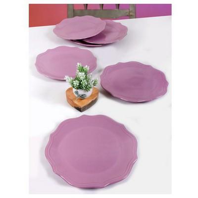 Keramika 6 Adet Servıs Tabağı 26 Cm Romeo Vıolet Tabak