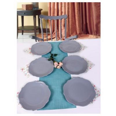 Keramika 6 Adet Servıs Tabağı 26 Cm Romeo Messe Grı Tabak