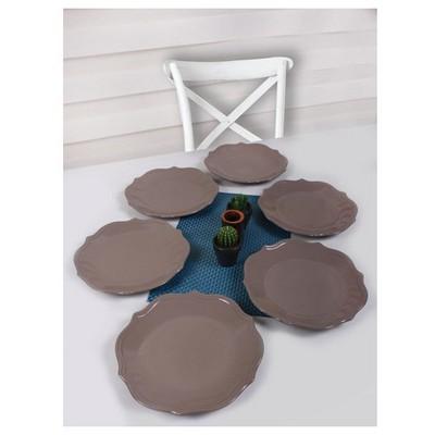 Keramika 6 Adet Servıs Tabağı 27cm Romeo Acık Taupe Tabak