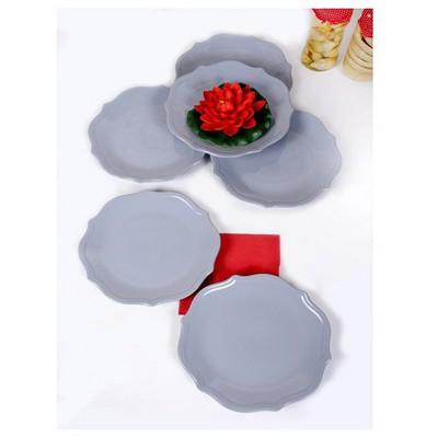 Keramika 6 Adet Servıs Tabağı 27cm Romeo Messe Grı Tabak