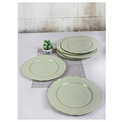 Keramika 6 Adet Julıet Servıs Tabagı 28 Cm Nıl Yesılı Tabak