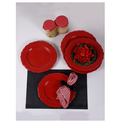 Keramika 6 Adet Julıet Servıs Tabagı 28 Cm Kırmızı Bayrak Tabak