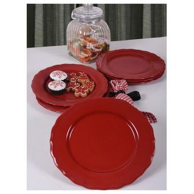 Keramika 6 Adet Julıet Servıs Tabagı 28 Cm Kırmızı 513 Tabak