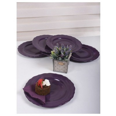 Keramika 6 Adet Julıet Servıs Tabagı 28 Cm Mor Tabak