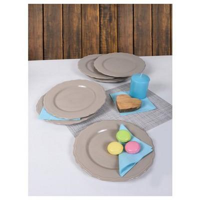 Keramika 6 Adet Julıet Servıs Tabagı 28 Cm Acık Taupe Tabak
