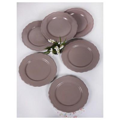 Keramika 6 Adet 28 Cm Toprak Taupe Julıet Servis Tabağı Tabak