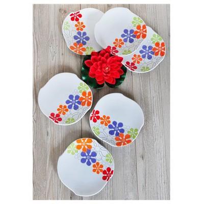 Keramika 6 Adet Pasta Tabağı 20 Cm Ruzgar Renklı Trend Tabak
