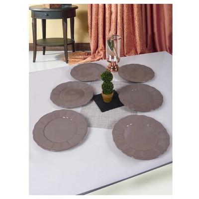 Keramika 6 Adet 27 Cm Açık Taupe Loto Servis Tabağı Tabak