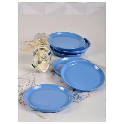 Keramika 6 Adet Pasta Tabagı 17 Cm Eyfel Mavı Tabak