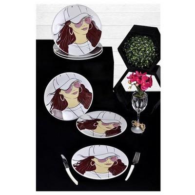 Keramika 6 Adet Pasta Tabagı 20 Cm Femınem Gozluk Tabak