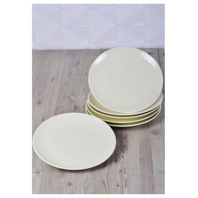Keramika 6 Adet Pasta Tabagı 20 Cm Krem Tabak