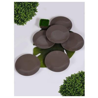 Keramika 6 Adet Pasta Tabagı 20 Cm Taupe Tabak