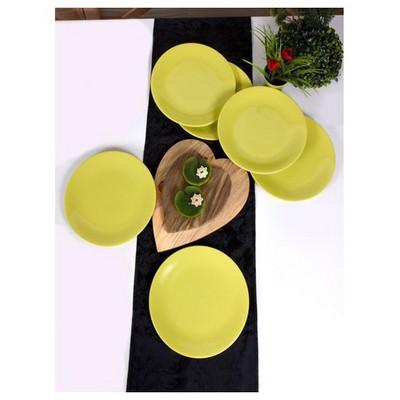 Keramika 6 Adet 25 Cm Yeşil Ege Servis Tabağı Tabak