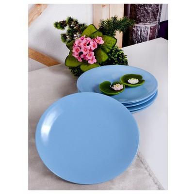 Keramika 6 Adet Servıs Tabağı Ege 25 Cm Mavı Tabak