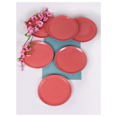Keramika 6 Adet 25 Cm Şeker Pembe Hitit Servis Tabağı Tabak