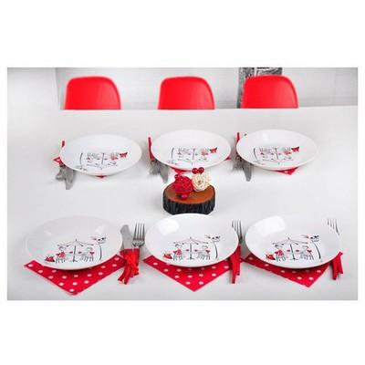 Keramika 6 Adet Yemek Tabağı 21 Cm Hıtıt Perı Masalı Tabak