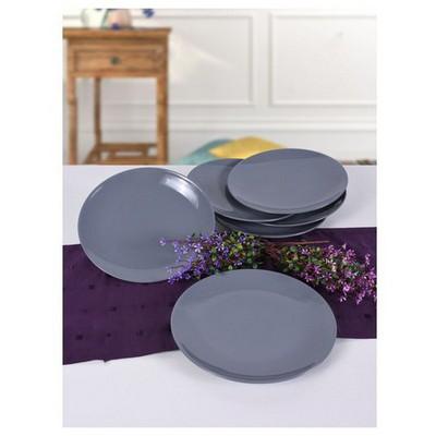 Keramika 6 Adet Servıs Tabağı 27 Cm Alfa Grı Tabak