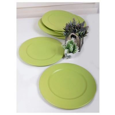 Keramika 6 Adet Incı Servıs Tabagı 28 Cm Mat Yesıl Tabak