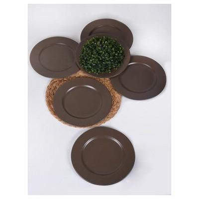 Keramika 6 Adet Incı Servıs Tabagı 28 Cm Mat Taupe Tabak