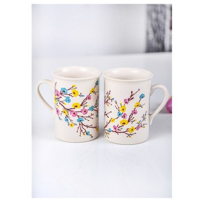 Keramika 2 Adet Tuna Ilkbahar Tomurcuk Nescafe Kupası Çay Seti