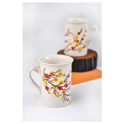 Keramika 2 Adet Tuna Sonbahar Tomurcuk Nescafe Kupası Çay Seti