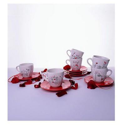 Keramika 6 Kısılık 12 Parca Yedı Tepe Nescafe / Cay Takımı Perı Masalı Çay Seti