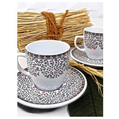 Keramika 4 Parca 2 Kısılık Kahve Takımı Halıc Çay Seti