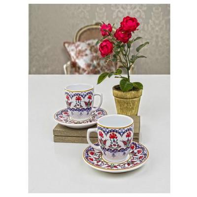 Keramika 4 Parca 2 Kısılık Kahve Takımı Lale Çay Seti