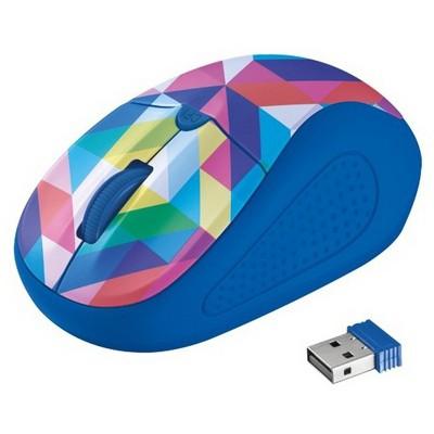 Trust Primo Kablosuz Mouse - Mavi/Geometri (21480)