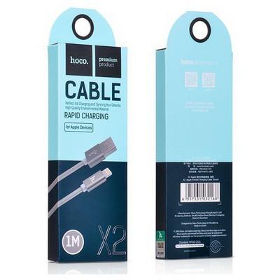 Hoco 6957531017295 Apple Lightning Örme Kablo 100 Cm Koyu Gri Adaptör Kablosu