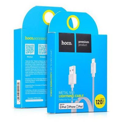Hoco 6957531024439 Apple Mfi Lightning Çelik Örme Kablo 100 Cm Gümüş Dönüştürücü Kablo