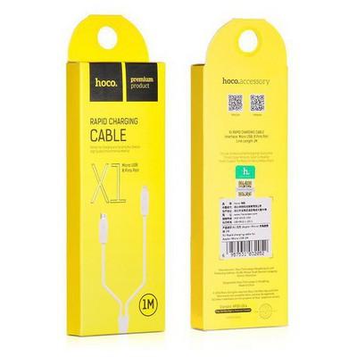 HOCO 6957531032052 Apple Lightning - Micro Usb Çift Kafalı Kablo 100 Cm Beyaz Adaptör Kablosu